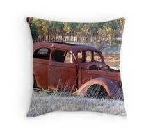 Resting and Rusting Throw Pillow