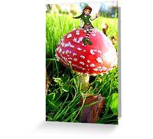 Make A Wish It Can Come True! - Mushroom & Elf Greeting Card