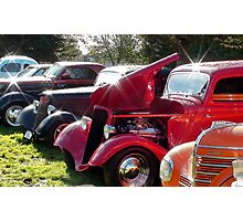 Hot Rods Shine And Sparkle - Hot Rod Club Vehicle Display - NZ Photographic Print