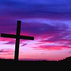Sunset Cross 1 by Paul  Huchton