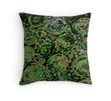 Futuristic green cells  Throw Pillow