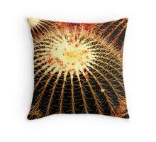 Spiky warm cactus Throw Pillow