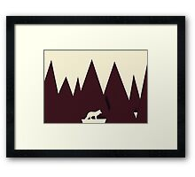 Abstract Paper Cutout Wolf  Framed Print