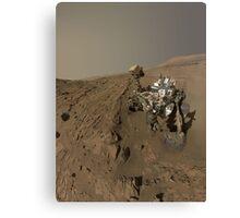 Mars Rover Curiosity Takes A Selfie - Planet Mars Canvas Print