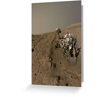 Mars Rover Curiosity Takes A Selfie - Planet Mars Greeting Card