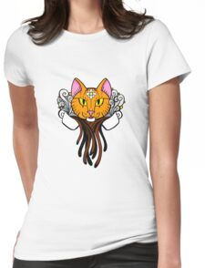 Coffee Cat - Tiger Womens Fitted T-Shirt