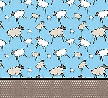 Sheep, sheep, sheep, time to sleep by ME Design Studio