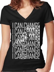 I CAN CHANGE Women's Fitted V-Neck T-Shirt