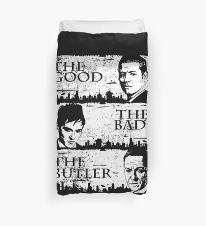 The Good, The Bad and The Butler Duvet Cover