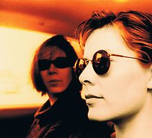 Orla & Denise in Terry's Car 1997 by Philip  Rogan