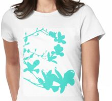 Tiffany Floral Print Womens Fitted T-Shirt