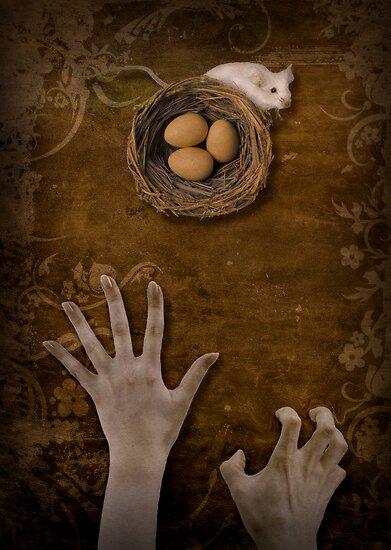 A mouse, a nest and greedy hands by Kurt  Tutschek