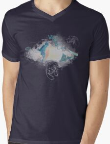 Toothless and Stitch - Where no one goes Mens V-Neck T-Shirt