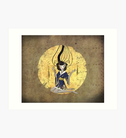 Goddess of Robotic Geishas Art Print