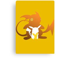 Pika Evolutions Canvas Print
