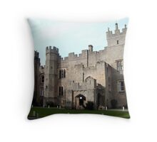 Witton Castle from the front Throw Pillow