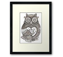 The Timely Owl Tee Framed Print