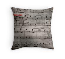 Mozart notes Throw Pillow