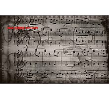 Mozart notes Photographic Print