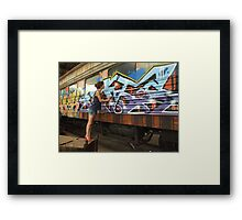 en[train]ced Framed Print