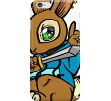 Sword Bunny Shirt iPhone Case/Skin