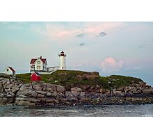 Nubble Light Sunset Photographic Print