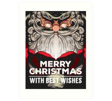 Merry Christmas! With best wishes! Art Print