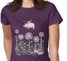 Pigs will Fly Womens Fitted T-Shirt