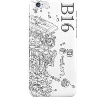 Honda B16 Exploded Blueprint iPhone Case/Skin