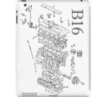 Honda B16 Exploded Blueprint iPad Case/Skin