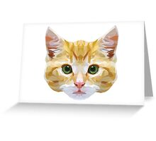 Crystalline Cat Greeting Card