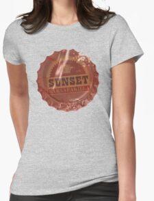 Sunset Sarsaparilla Bottle Cap Womens Fitted T-Shirt