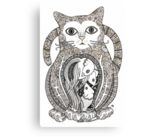 Contented Cat Tee Canvas Print