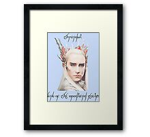 Thranduil, King of the Woodland Realm Framed Print