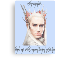 Thranduil, King of the Woodland Realm Canvas Print