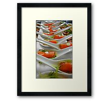 Hors d'œuvre - Smoked Salmon - Christchurch NZ Framed Print
