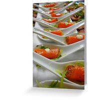 Hors d'œuvre - Smoked Salmon - Christchurch NZ Greeting Card