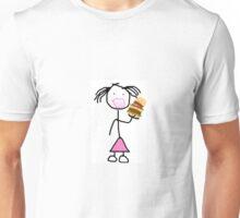 Burger Monster Lady  Unisex T-Shirt