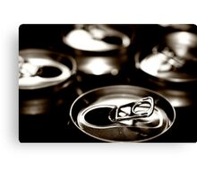 beer cans Canvas Print