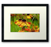 Get Well Soon - Greeting Card - Black Eyed Susan - Cone Flower - NZ Framed Print