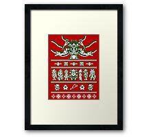 Chrono Christmas Sweater Framed Print