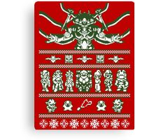 Chrono Christmas Sweater Canvas Print