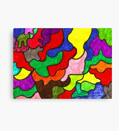 Vivid Puzzle Canvas Print