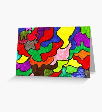 Vivid Puzzle Greeting Card