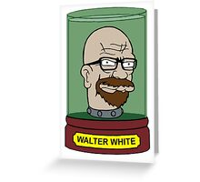 Walter White Futurama Jar Head Mashup Greeting Card