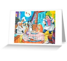 Disney Lady and The Tramp Tony's Greeting Card