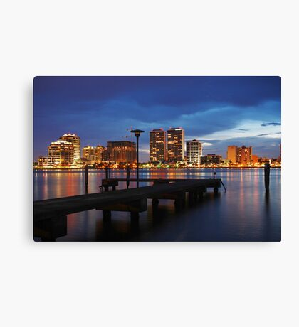 Across the Riverwalk Canvas Print