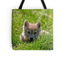 If they could only stay so young - Arctic Wolf Pup Tote Bag