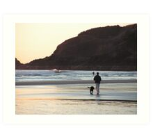 Agate Beach dogwalk -- Newport, Oregon Art Print