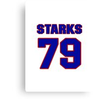 National football player Max Starks jersey 79 Canvas Print
